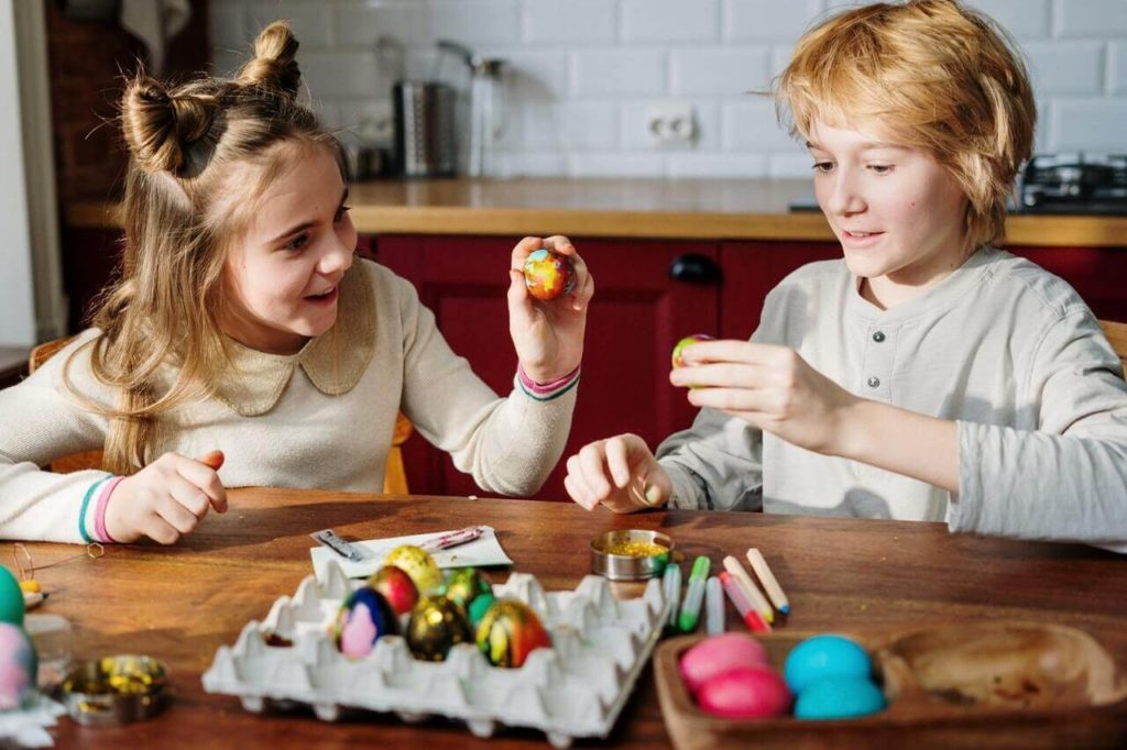Children eggs celebration holiday