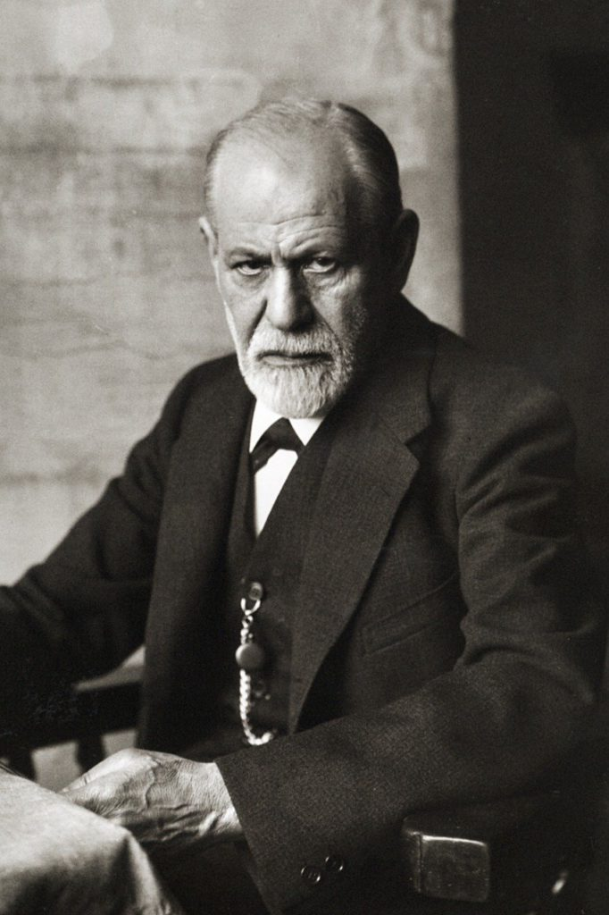 Freud Museum Vienna black and white photo