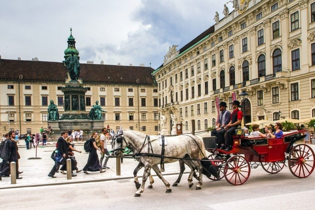 The horse carriage Vienna