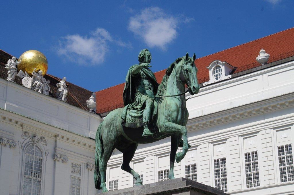 Vienna horseman sculpture